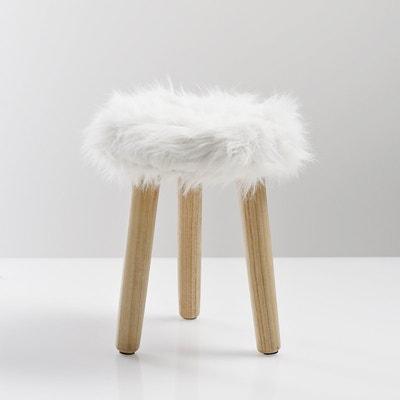Taburete con asiento de pelo sintético Adas Taburete con asiento de pelo sintético Adas La Redoute Interieurs