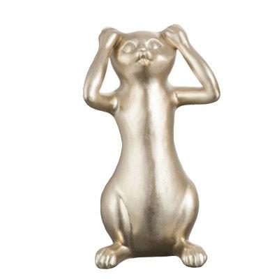 Statuette déco Chat Or 24 cm - Entendre JOLIPA