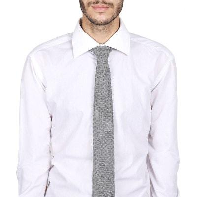 Cravate tricot laine et alpaga grise - Fabriqué en France Cravate tricot  laine et alpaga grise. QUALICOQ 1c1cfb1d489