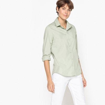Camisa direita, mangas compridas, puro algodão Camisa direita, mangas compridas, puro algodão La Redoute Collections
