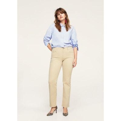 Pantalon straight-fit coton VIOLETA BY MANGO