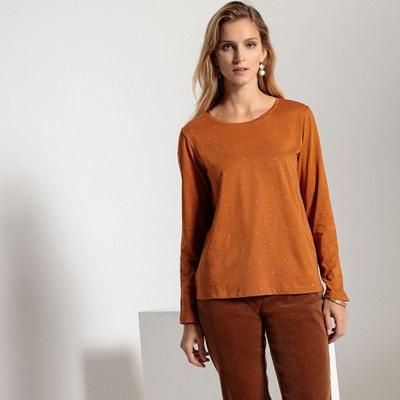 T-shirt strass, scollo rotondo, maniche lunghe T-shirt strass, scollo rotondo, maniche lunghe ANNE WEYBURN