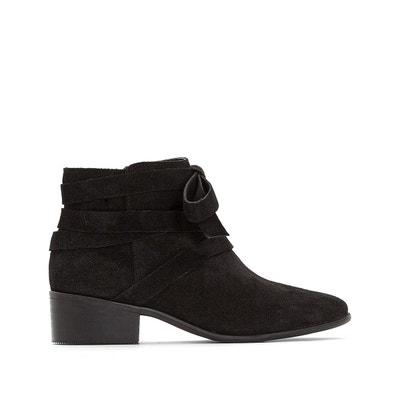 Boots en cuir détail boucle Boots en cuir détail boucle MADEMOISELLE R