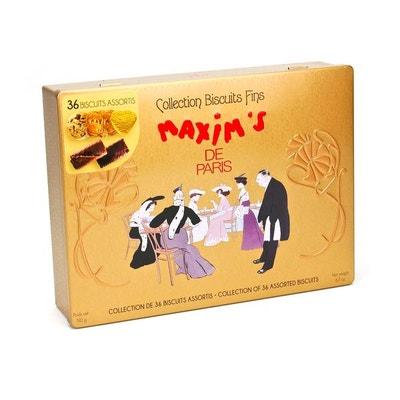 Boîte assortiment de biscuits fins - Maxim's - Boîte métal 190g Boîte assortiment de biscuits fins - Maxim's - Boîte métal 190g MAXIM'S DE PARIS