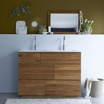 Meuble salle de bain bois exotique en solde | La Redoute