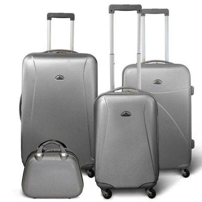 ac21cfc6bd KINSTON Set 3 valises 4 roues + Vanity Gris clair KINSTON Set 3 valises 4  roues