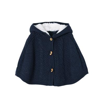 72c0f61a281e Poncho tricot irisé bébé fille à capuche Poncho tricot irisé bébé fille à  capuche VERTBAUDET