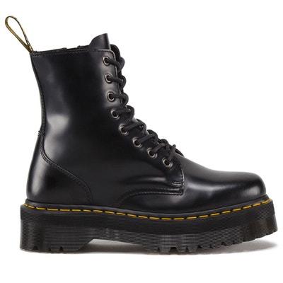 Dr. Martens Les Boot FL Boots en cuir brun Femme En