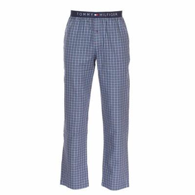 e3e433714416 Pantalon d intérieur Tommy Hilfiger Woven Pant Gingham en coton à carreaux  , ciel et