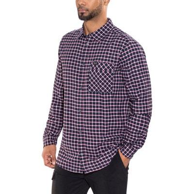 2ca5752404fe Fraser Island - T-shirt manches longues Homme - rouge bleu JACK WOLFSKIN