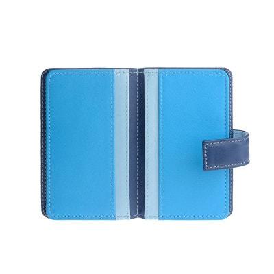 Porte-cartes de crédit en cuir coloré avec 12 fentes pour les cartes  magnétiques. 2d1dc130906