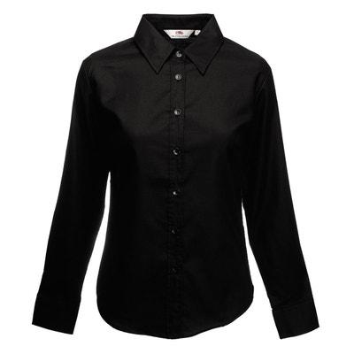 à vendre détails pour achat authentique Chemise longue noire femme   La Redoute