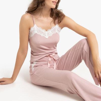Super remise mode gamme complète de spécifications Pyjama dentelle femme   La Redoute