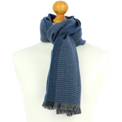 Echarpe en laine d Australie, 35x180cm, bleu Ottanio TONY ET PAUL 677082ce97b
