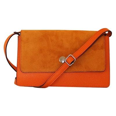 b3606cfc98 Sac à main bandoulière cuir orange Burgos CHAPEAU-TENDANCE