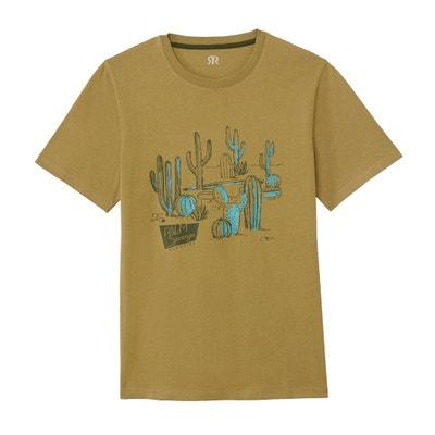 feddd3d6754d T-shirt scollo rotondo fantasia cactus T-shirt scollo rotondo fantasia  cactus LA REDOUTE