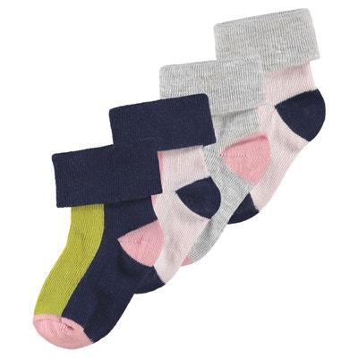 Sandales Coton Tricote Pour Bebe Naissance Creme Other Newborn-5t Girls Clothes Paire De Chaussons