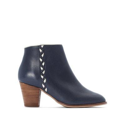 Boots en cuir à détail tressé Boots en cuir à détail tressé