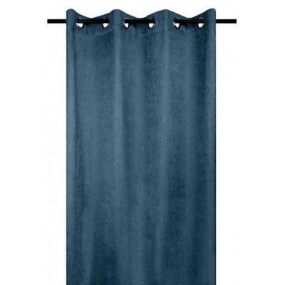 Rideau bleu canard en solde | La Redoute
