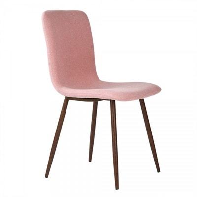 Lot de 4 chaises scandinaves en tissu avec pieds en métal couleur bois  foncé Lot de 53feedb19b8f