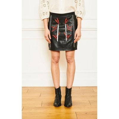 2533630a3aae2d Jupe en cuir noir femme | La Redoute