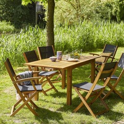 Ensemble table, chaise de jardin BOIS DESSUS BOIS DESSOUS ...