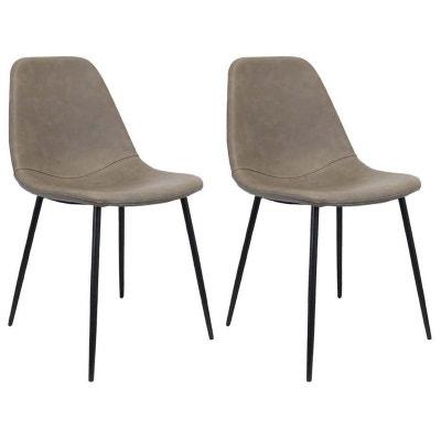 64e25734508da Chaise en polyuréthane imitation cuir (Lot de 2) CMP