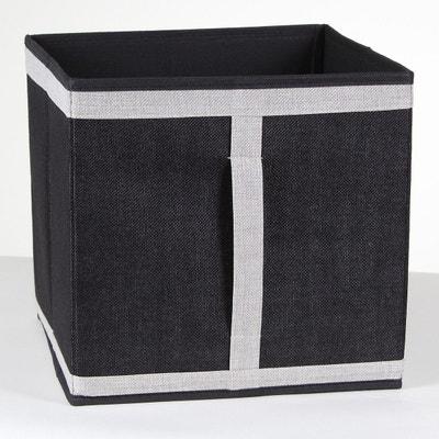 Boîte de rangement carton blanc armature métal - petit modèle. 9,90 €. Cube  pliable en carton recouvert de tissu polyester aspect lin CASAME 06aa1e845068