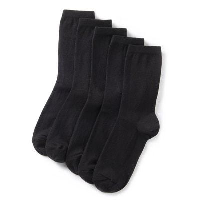 79b2014f74ec7 Mi-chaussettes unies (lot de 5) Mi-chaussettes unies (lot de