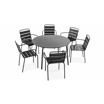 Table De Jardin Ronde Avec Rallonge La Redoute