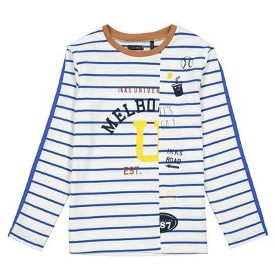 e4b578696fd72 T-shirt manches longues rayé 4-14 ans T-shirt manches longues rayé