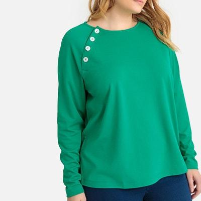 5dc711fa235 T-shirt col rond boutonnage épaule T-shirt col rond boutonnage épaule  CASTALUNA