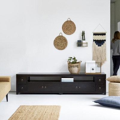 Meuble TV - Meuble TV design, blanc, d\'angle | La Redoute