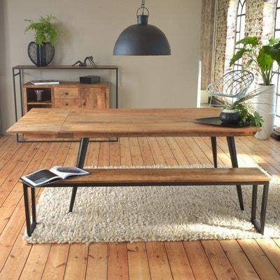 Banc industriel bois manguier piétement design métal 180cm   B MADE IN  MEUBLES 4f2e451aba25