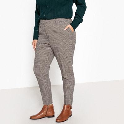 7366cb6e066 Straight Leg Trousers in Prince of Wales Check CASTALUNA PLUS SIZE