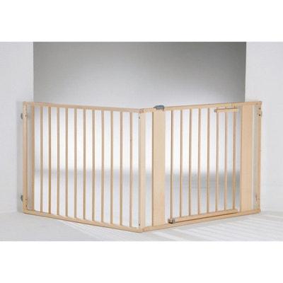 9bd5ffc608de0c Kit Barriere de sécurité bébé Set 1 naturel gris GEUTHER 120 à 180 cm  GEUTHER