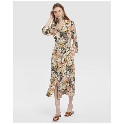 5756404a2b6 Robe imprimé tropical à manches troisquarts Robe imprimé tropical à manches  troisquarts FORMULA JOVEN