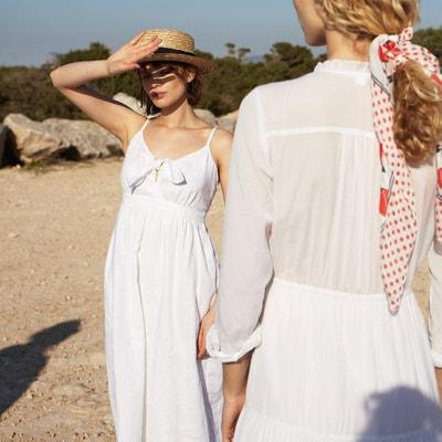 9d90e3504f2dc7 Lange jurk in zuiver linnen met bandjes Lange jurk in zuiver linnen met  bandjes LA REDOUTE