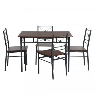Ensemble Table A Manger Et 4 Chaises Design Industriel CALICOSY