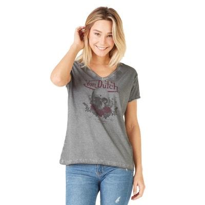 516f5d9461ed9 Tee shirt manche courte femme Von dutch | La Redoute