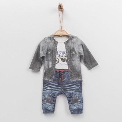 edce19f6acafa Combinaison dors-bien pyjama bébé garçon en coton biologique de 1 mois à 18  mois. SEVIRA KIDS