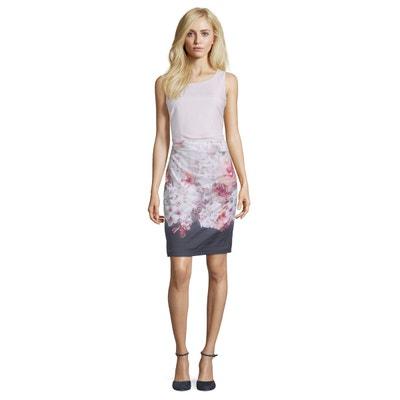 5ce3e5d2188fb Robe droite à imprimé à fleurs VERA MONT