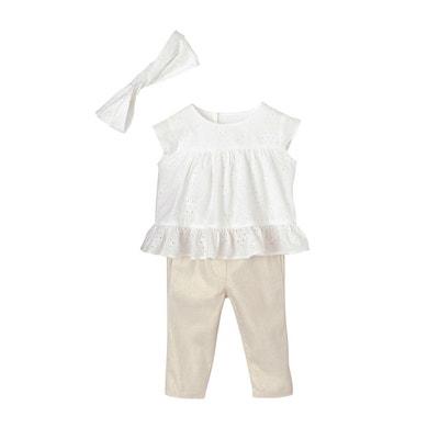853ab96522511 Ensemble bébé fille blouse brodée