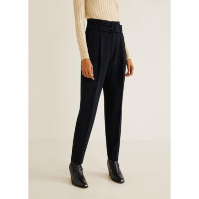 769192bc8b6 Pantalon taille haute ceinture Pantalon taille haute ceinture MANGO