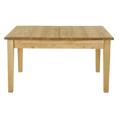 5296f303c6949 Table rustique en pin massif 140 cm + rallonge 40 cm Farmer Table rustique  en pin