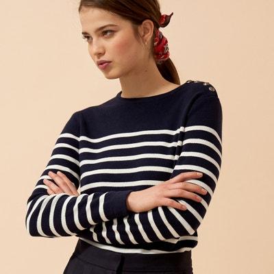 Pull alla marinara in maglia fine cotone Pull alla marinara in maglia fine  cotone LA REDOUTE 73dc580f5d5