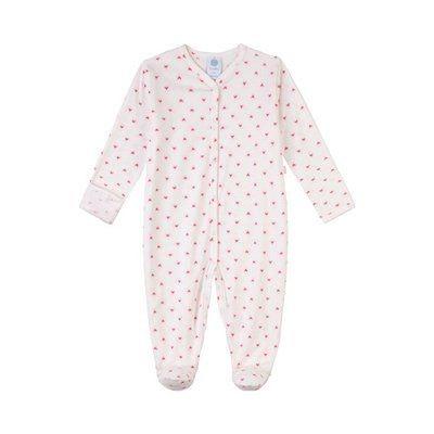 0bd13244897da Sanetta Dors-bien coeurs tenues de nuit bébé pyjama bébé Sanetta Dors-bien  coeurs