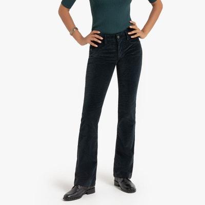Femme en velours côtelé pantalon pantalon stretch bootcut droite évasée en coton neuf