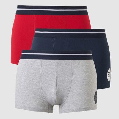 e60bd82e80 Lote de 3 boxers cortos LA REDOUTE COLLECTIONS