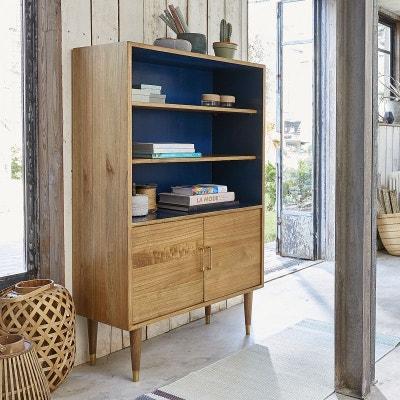 af5c501e346866 Bibliothèque en bois de mindy 2 portes vintage BOIS DESSUS BOIS DESSOUS